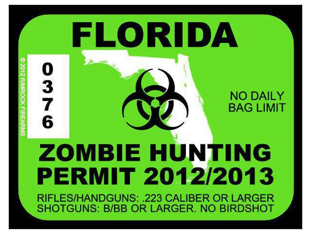 Zombie hunter license the image kid has it for Florida fishing license